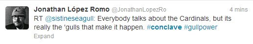 "Jonathan Lopez Romo says ""Everybody talks about the cardinals, but it's really the gulls that make it happen."""